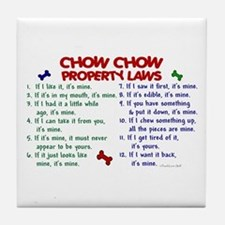 Chow Chow Property Laws 2 Tile Coaster