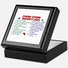Chow Chow Property Laws 2 Keepsake Box