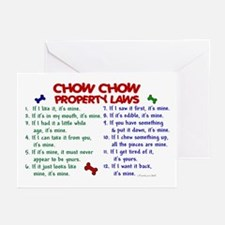 Chow Chow Property Laws 2 Greeting Cards (Pk of 10