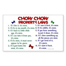 Chow Chow Property Laws 2 Rectangle Decal