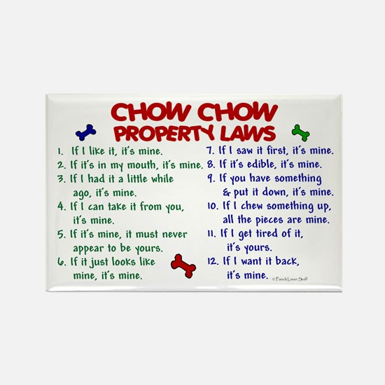 Chow Chow Property Laws 2 Rectangle Magnet
