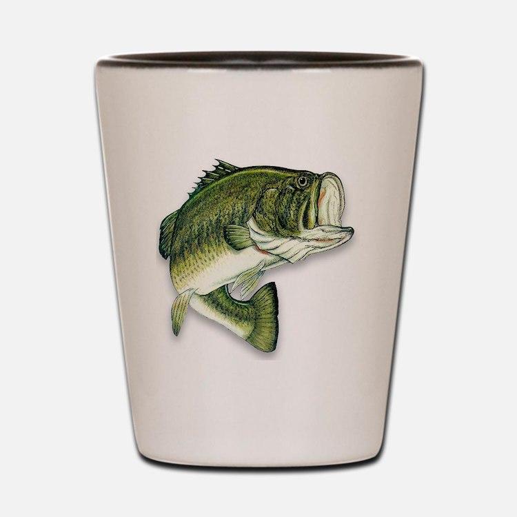 Cute Bass fishing Shot Glass