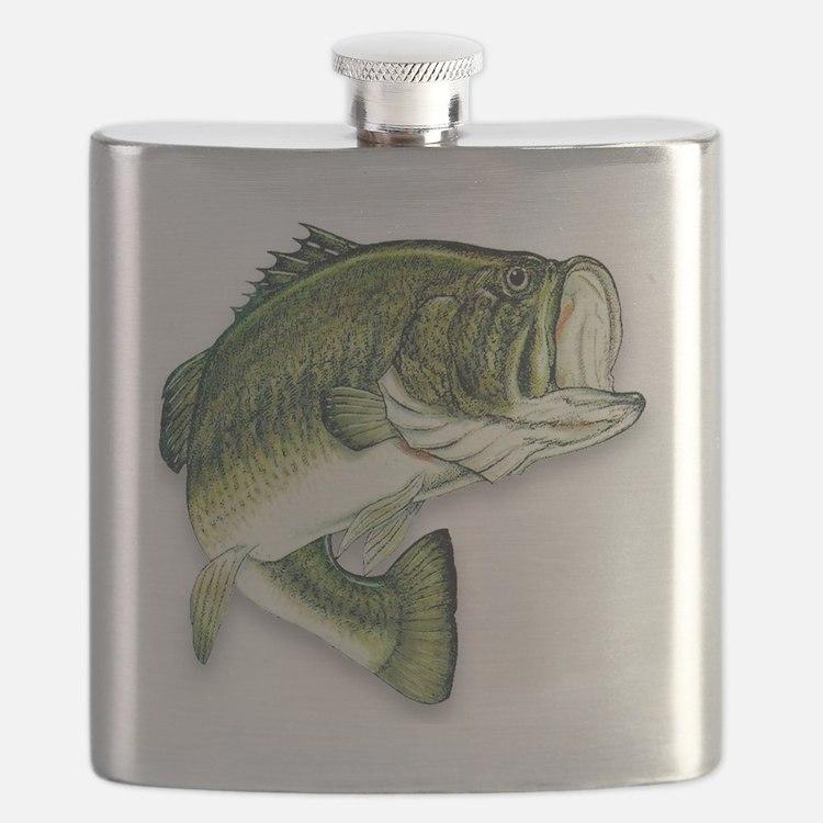 Cute Bass fishing Flask