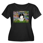 Lilies (#2)/Japanese Chin Women's Plus Size Scoop
