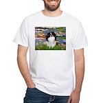 Lilies (#2)/Japanese Chin White T-Shirt