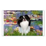 Lilies (#2)/Japanese Chin Sticker (Rectangle)