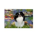 Lilies (#2)/Japanese Chin Rectangle Magnet (10 pac