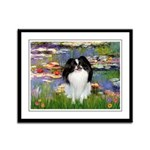 Lilies (#2)/Japanese Chin Framed Panel Print