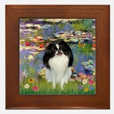 Lilies (#2)/Japanese Chin Framed Tile