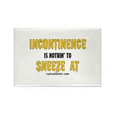 Incontinence Sneeze Rectangle Magnet