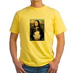 Mona Lisa/Japanese Chin Yellow T-Shirt