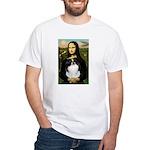 Mona Lisa/Japanese Chin White T-Shirt