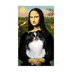 Mona Lisa/Japanese Chin Sticker (Rectangle)