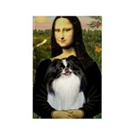 Mona Lisa/Japanese Chin Rectangle Magnet (10 pack)