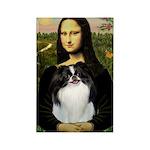 Mona Lisa/Japanese Chin Rectangle Magnet