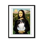 Mona Lisa/Japanese Chin Framed Panel Print