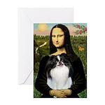 Mona Lisa/Japanese Chin Greeting Card