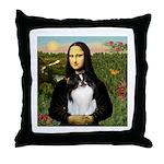 Mona Lisa/Japanese Chin Throw Pillow