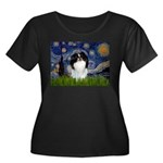 Starry/Japanese Chin Women's Plus Size Scoop Neck