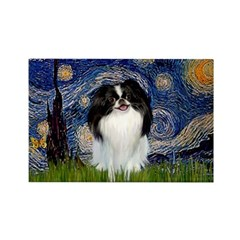 Starry/Japanese Chin Rectangle Magnet (10 pack)