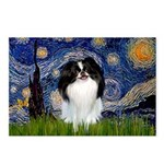 Starry/Japanese Chin Postcards (Package of 8)