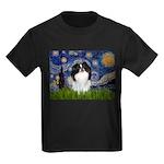 Starry/Japanese Chin Kids Dark T-Shirt