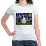 Starry/Japanese Chin Jr. Ringer T-Shirt