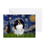 Starry/Japanese Chin Greeting Cards (Pk of 20)