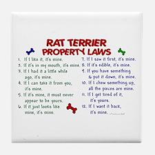 Rat Terrier Property Laws 2 Tile Coaster