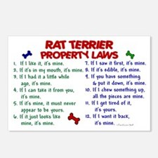 Rat Terrier Property Laws 2 Postcards (Package of
