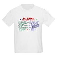 Rat Terrier Property Laws 2 T-Shirt