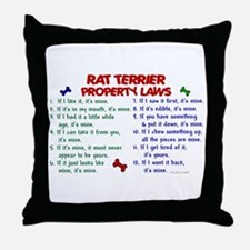 Rat Terrier Property Laws 2 Throw Pillow