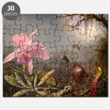 Cattleya Orchis and Three Hummingbirds Puzzle