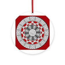 Aztec Meets Alien Ornament (Round)