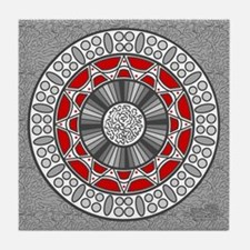 Aztec Meets Alien Tile Coaster