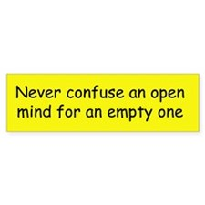 Open Mind Bumper Bumper Sticker