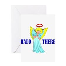 HALO ANGEL Greeting Card