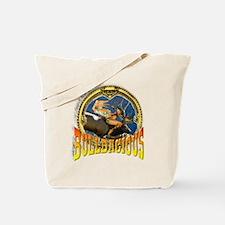 Bulldashis half nude hunting Tote Bag