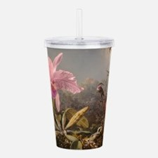 Cattleya Orchid And Acrylic Double-Wall Tumbler