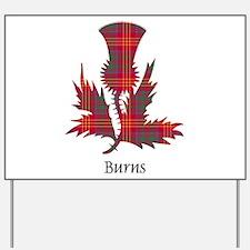 Thistle - Burns Yard Sign
