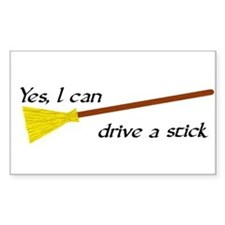 Drive a Stick Rectangle Decal