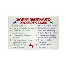 Saint Bernard Property Laws 2 Rectangle Magnet (10