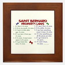 Saint Bernard Property Laws 2 Framed Tile