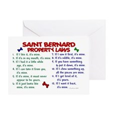 Saint Bernard Property Laws 2 Greeting Card