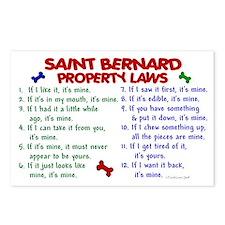 Saint Bernard Property Laws 2 Postcards (Package o