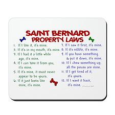 Saint Bernard Property Laws 2 Mousepad
