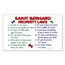 Saint Bernard Property Laws 2 Sticker (Rectangular