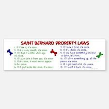 Saint Bernard Property Laws 2 Bumper Car Car Sticker