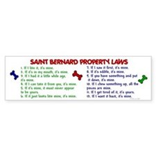 Saint Bernard Property Laws 2 Bumper Car Sticker