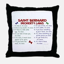Saint Bernard Property Laws 2 Throw Pillow
